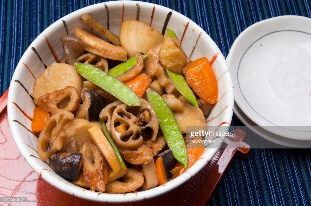 筑前煮のとなり福岡県の郷土料理 : ストックフォト