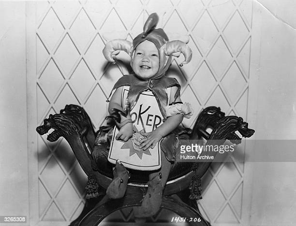 Child actor Baby Leroy who plays the Joker in the Paramount production of Lewis Carroll's 'Alice in Wonderland' directed by Norman Z McLeod