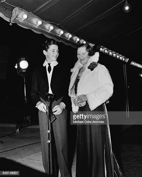 Child actor Freddie Bartholomew and his aunt Cissie attend an event in Los AngelsCalifornia