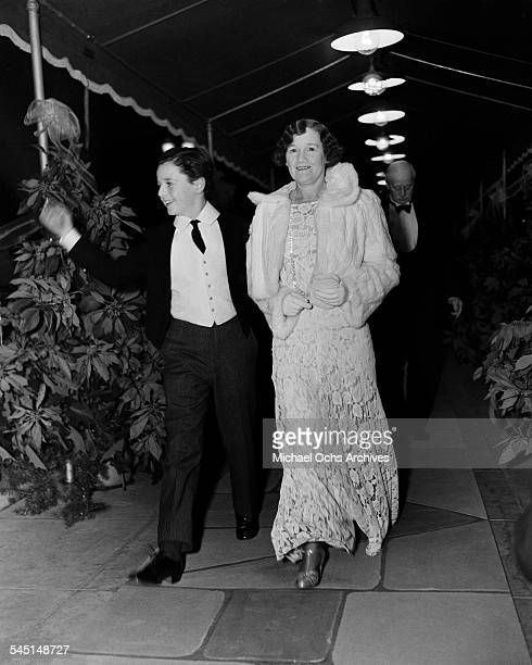 Child actor Freddie Bartholomew with his aunt Cissie attend an event in Los Angeles California
