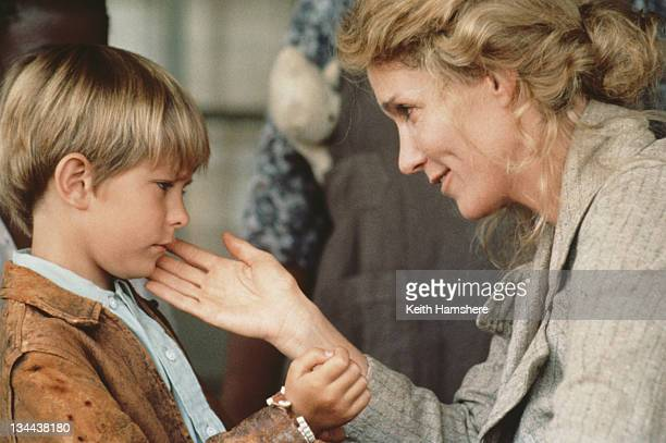 Child actor Guy Witcher as the 7yearold PK and American actress Tracy Brooks Swope as his mother in the film 'The Power of One' 1992