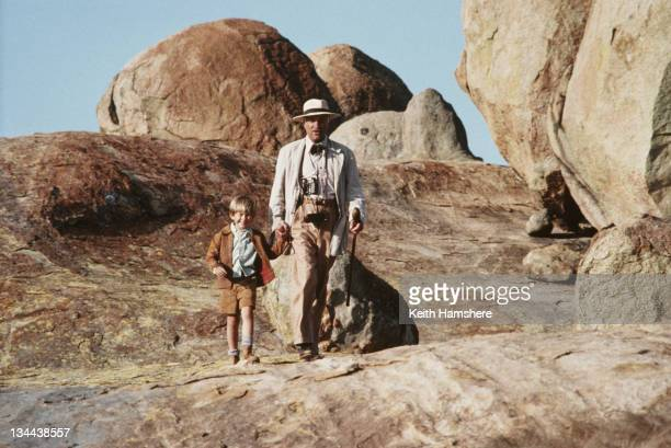 Child actor Guy Witcher as the 7yearold PK and Armin MuellerStahl as Doc his mentor in the film 'The Power of One' 1992
