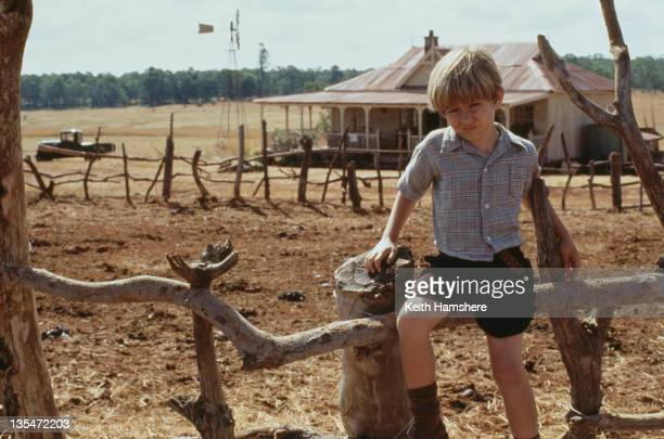Child actor Guy Witcher as the 7yearold PK on a cattle ranch in the Transvaal in the film 'The Power of One' 1992