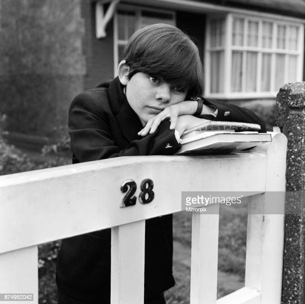 Child actor Jack Wild who played the role of the Artful Dodger in the 1968 film 'Oliver' Pictured outside his home in Hounslow 30th September 1968
