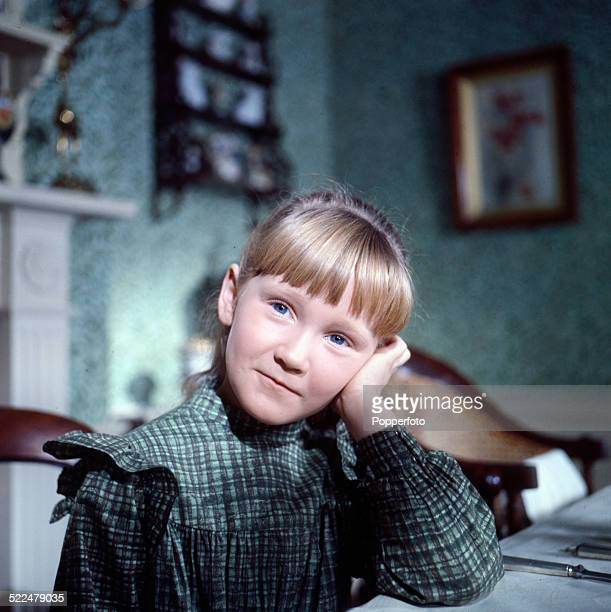 Child actor Karen Dotrice pictured in character as Mary McDhui on the set of the feature film The Three Lives of Thomasina in 1964