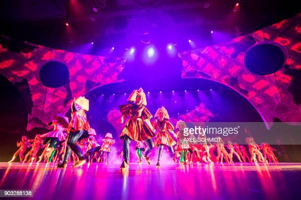 """Child actors perform at the Friedrichstadtpalast the play """"Play with the Time"""" in Berlin, on November 15, 2017. 100 children perform in the most..."""