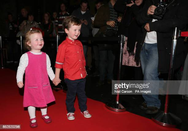Child actors Saoirse aged 3 and Tadhg Bowen aged 5 on the red carpet at the screening of the film Philomena at the Irish Film Institute Dublin