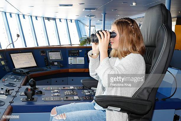 Child actress and godmother Emma Tiger Schweiger during the AIDAprima Cruise Ship Baptism on May 7 2016 in Hamburg Germany