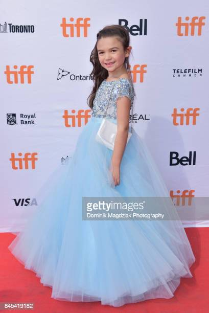 Child actress Brooklynn Prince attends the The Florida Project premiere at the Ryerson Theatre on September 10 2017 in Toronto Canada