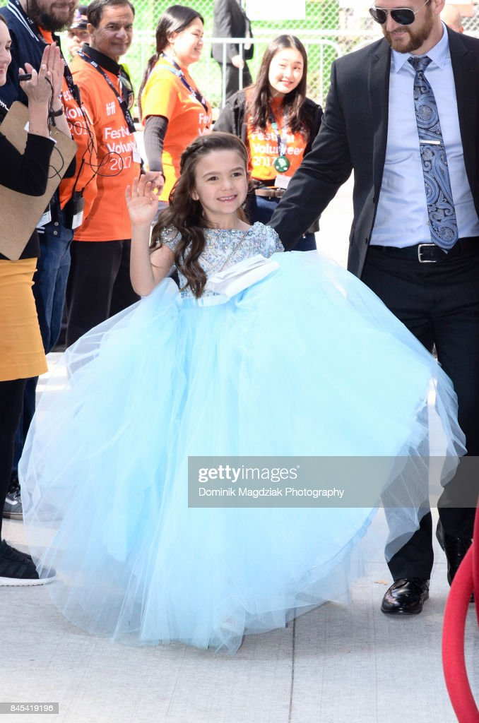 Child actress Brooklynn Prince attends the 'The Florida Project' premiere at the Ryerson Theatre on September 10, 2017 in Toronto, Canada.