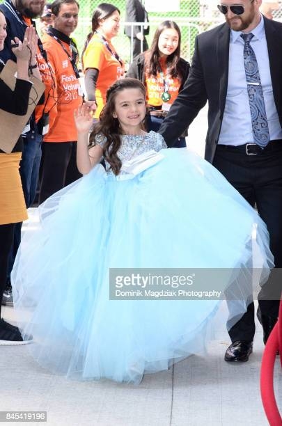 Child actress Brooklynn Prince attends the 'The Florida Project' premiere at the Ryerson Theatre on September 10 2017 in Toronto Canada