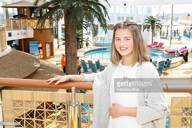 Child actress Emma Tiger Schweiger during the AIDAprima Cruise Ship Baptism at Saturday May 7 2016 in Hamburg Germany