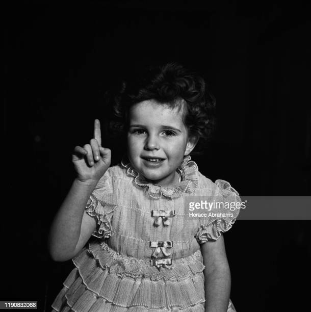 A child actress in England during World War II April 1941
