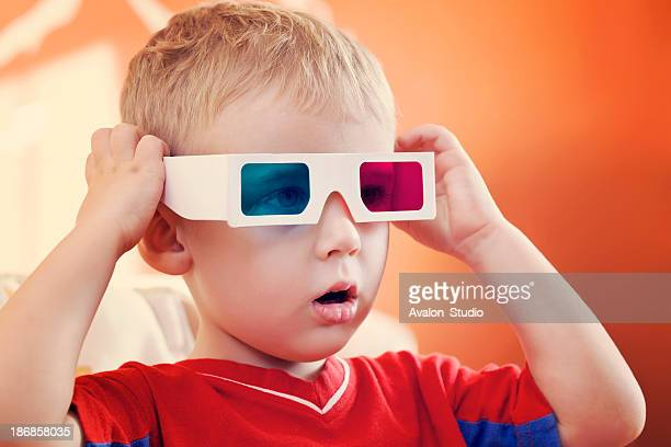 Child and 3d glasses