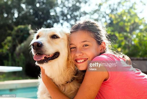 Child and dog team
