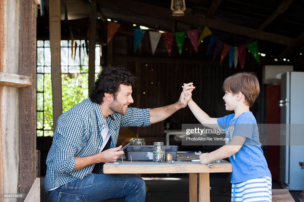 Child and father bonding : Stock Photo