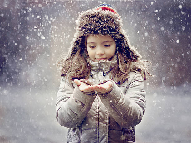 Child And Snow Wall Art