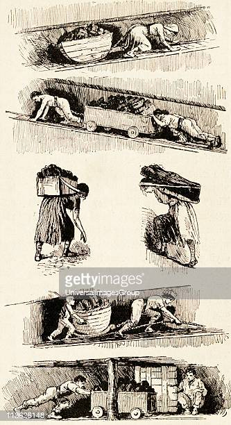 Child and woman labour in the coal mines prior to 1843