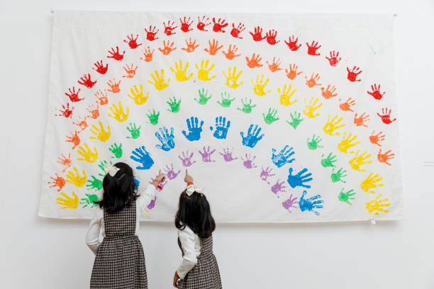 GBR: Opening of 'All Will Be Well: Children's Rainbows From Lockdown'