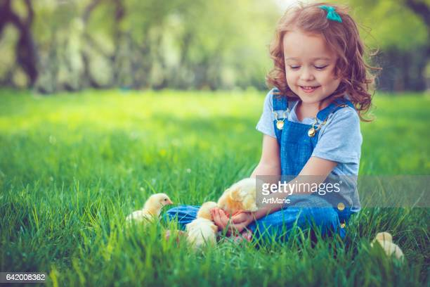 child at easter - little russian girls stock photos and pictures