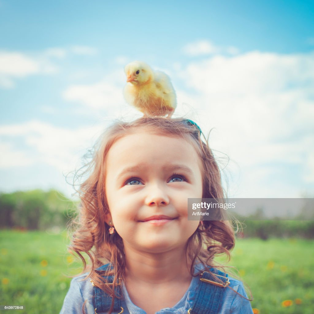 Child at Easter : Stock Photo