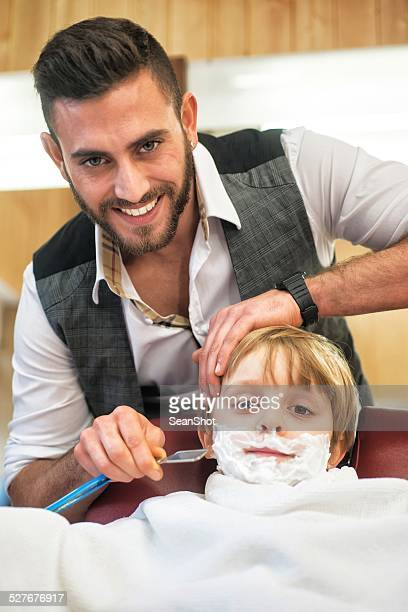Child at the Barber Shop