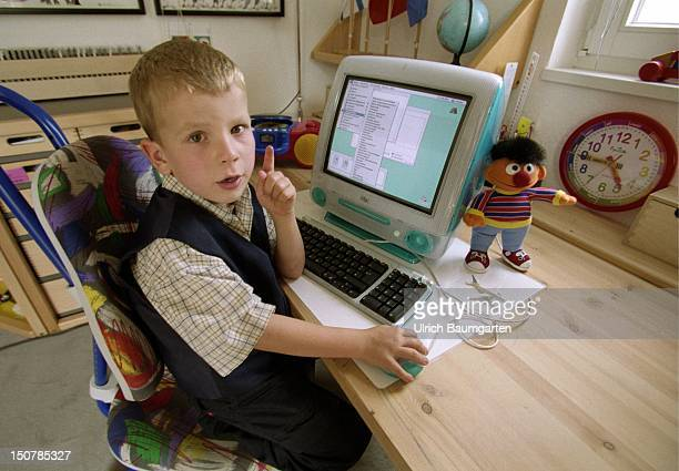 Child at the Computer in his children's room