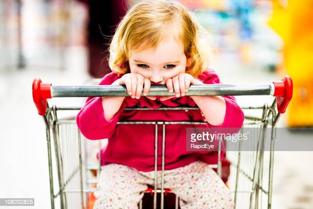 Child at the supermarket
