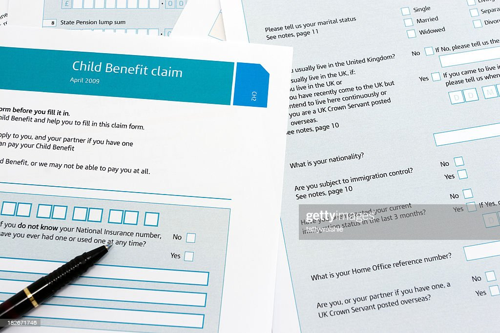 Child Benefit Form Stock Photo  Getty Images