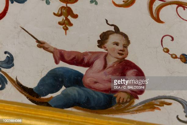Child by Giovanni Francesco Fariano detail of the powder room vaulted ceiling King's apartment Hunting residence by Filippo Juvarra Stupinigi...