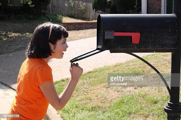 Child Checking the Mailbox
