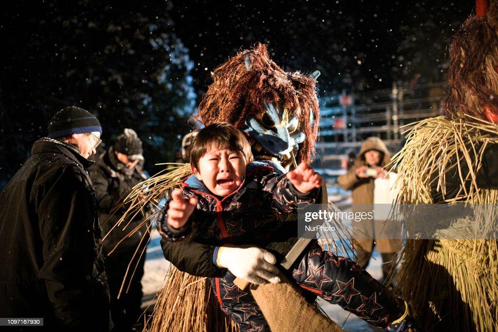 Japan Namahage Sedo Festival In Oga : ニュース写真