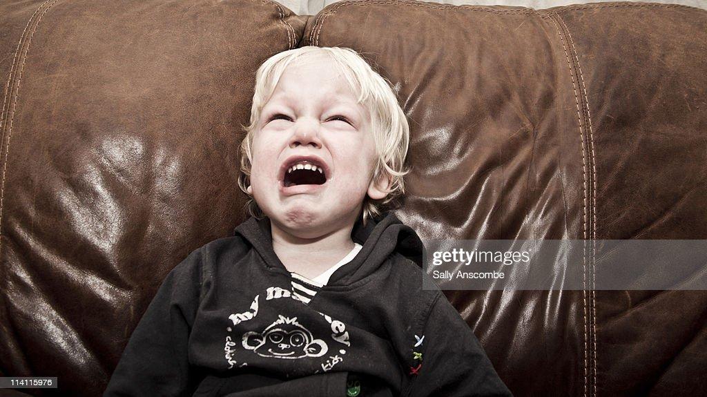 Child crying : Stock Photo