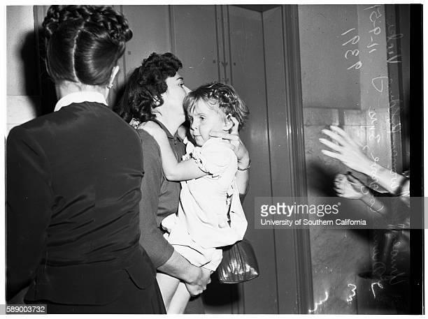 Child custody case Joan Lee Ervin Mother of Vicki Vicki Dianne Cosgrove Mrs Helen Irene Cosgrove Grandmother November 9 1951