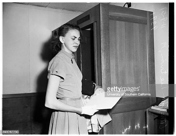 Child custody case, Joan Lee Ervin Mother of Vicki, Vicki Dianne Cosgrove Mrs Helen Irene Cosgrove Grandmother, November 9, 1951.
