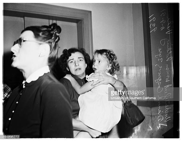 Child custody case Joan Lee Ervin Mother of Vicki Vicki Dianne Cosgrove Mrs Helen Irene Cosgrove Grandmother November 9 1951