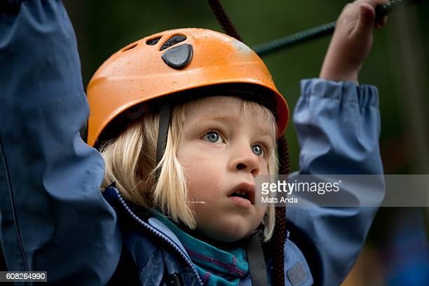 Child doing mountain climbing