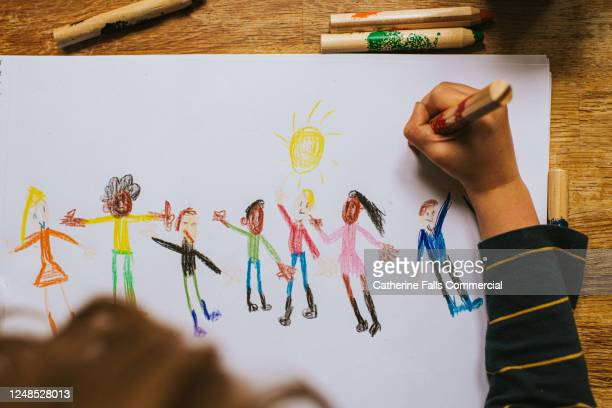 child drawing figures - black civil rights stock pictures, royalty-free photos & images