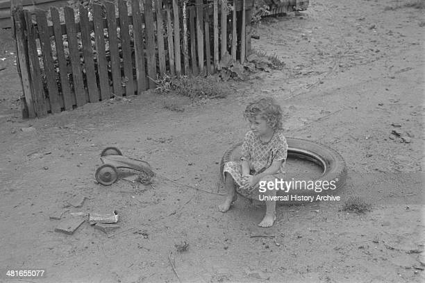 Child dwellers in Circleville's Hooverville central Ohio 1938 Summer