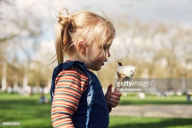 Child eating an ice cream