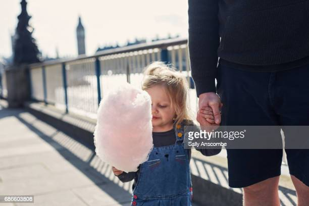 Child eating Candy Floss