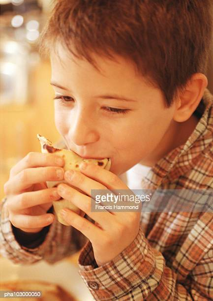 Child eating, close-up