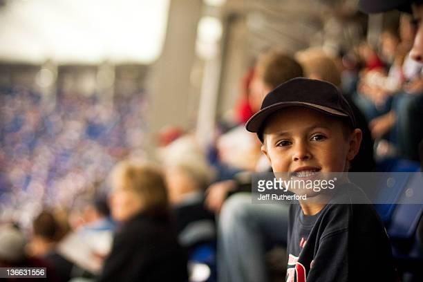 Child enjoying baseball game