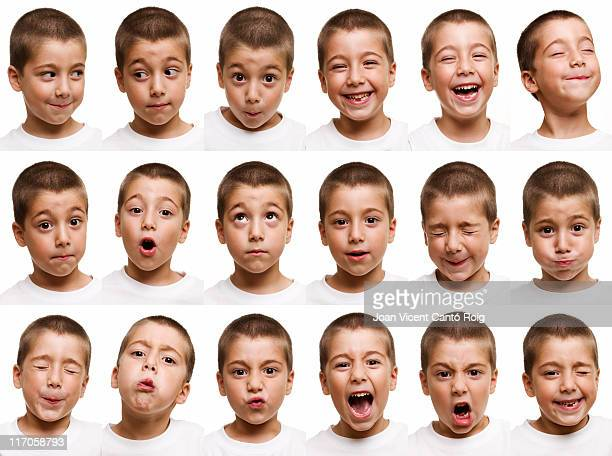 child faces - multiple image stock pictures, royalty-free photos & images