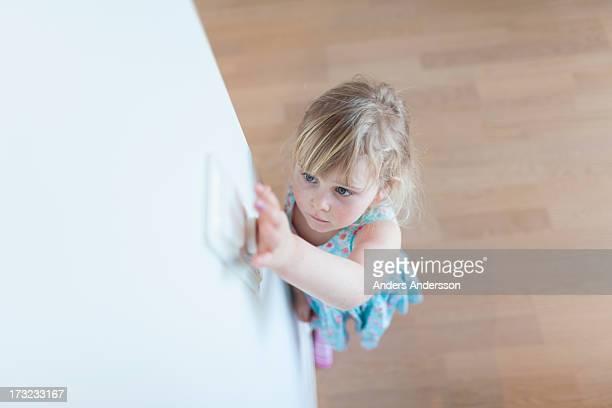 Child flickering light switch