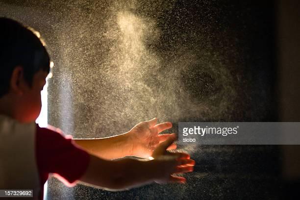 Child Flour Game