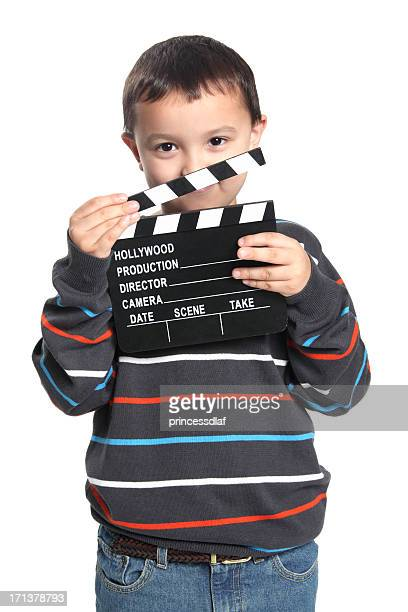 child holding film slate - actor stock pictures, royalty-free photos & images