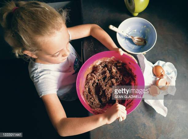 child home baking - making stock pictures, royalty-free photos & images
