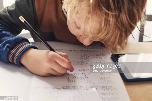 child homeschooling - learning stock pictures, royalty-free photos & images