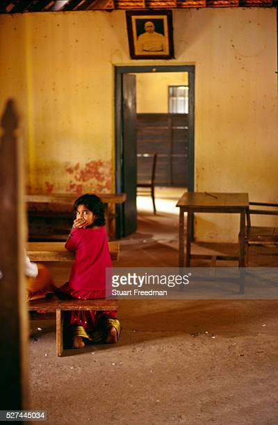 'A child in a classroom at the school for Dalit's that was built by Arundhati Roy's grandfather Aymanam Kerala India The village is where Arundhati...